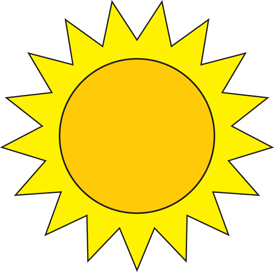 Soft image intended for printable sun