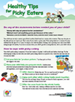 Preschool Picky Eaters Poster from USDA
