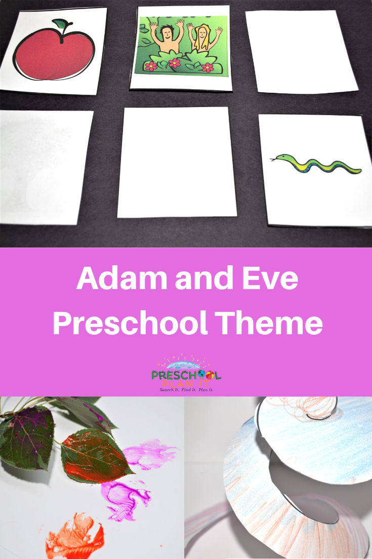 Adam and Eve Preschool Theme