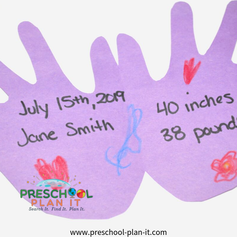 all about me math activities for preschoolers