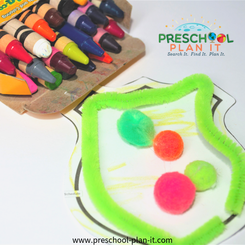 Community Helper Ambulance Preschool Theme Art Activity