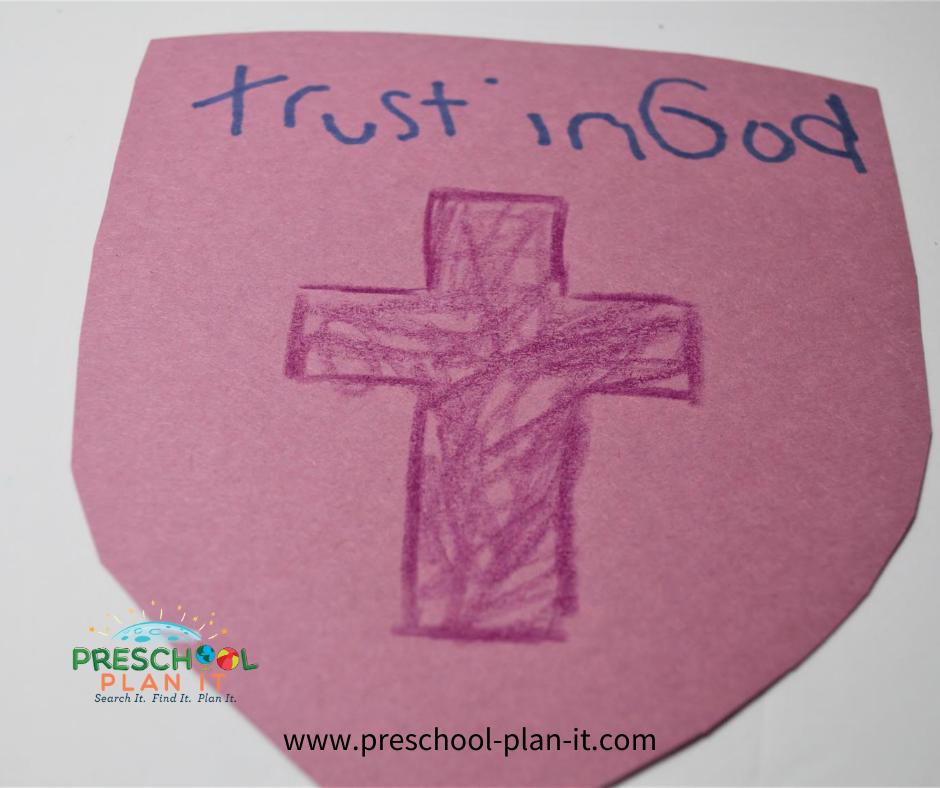 Armor of God Preschool Theme Art Activity