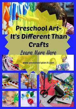 Preschool Art VS Preschool Crafts