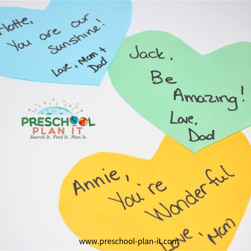 Back to School Theme for Preschoolers Love You Hearts