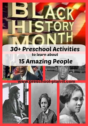 photo regarding Black History Skits Free Printable identified as Black Record Thirty day period Topic for Preschool