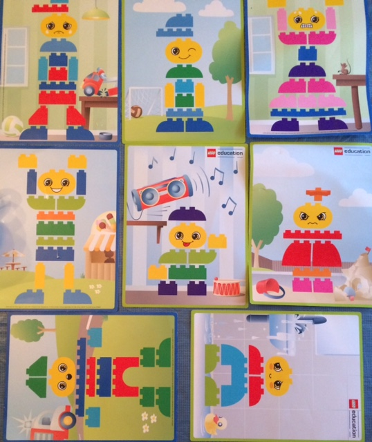 preschool legos building cards