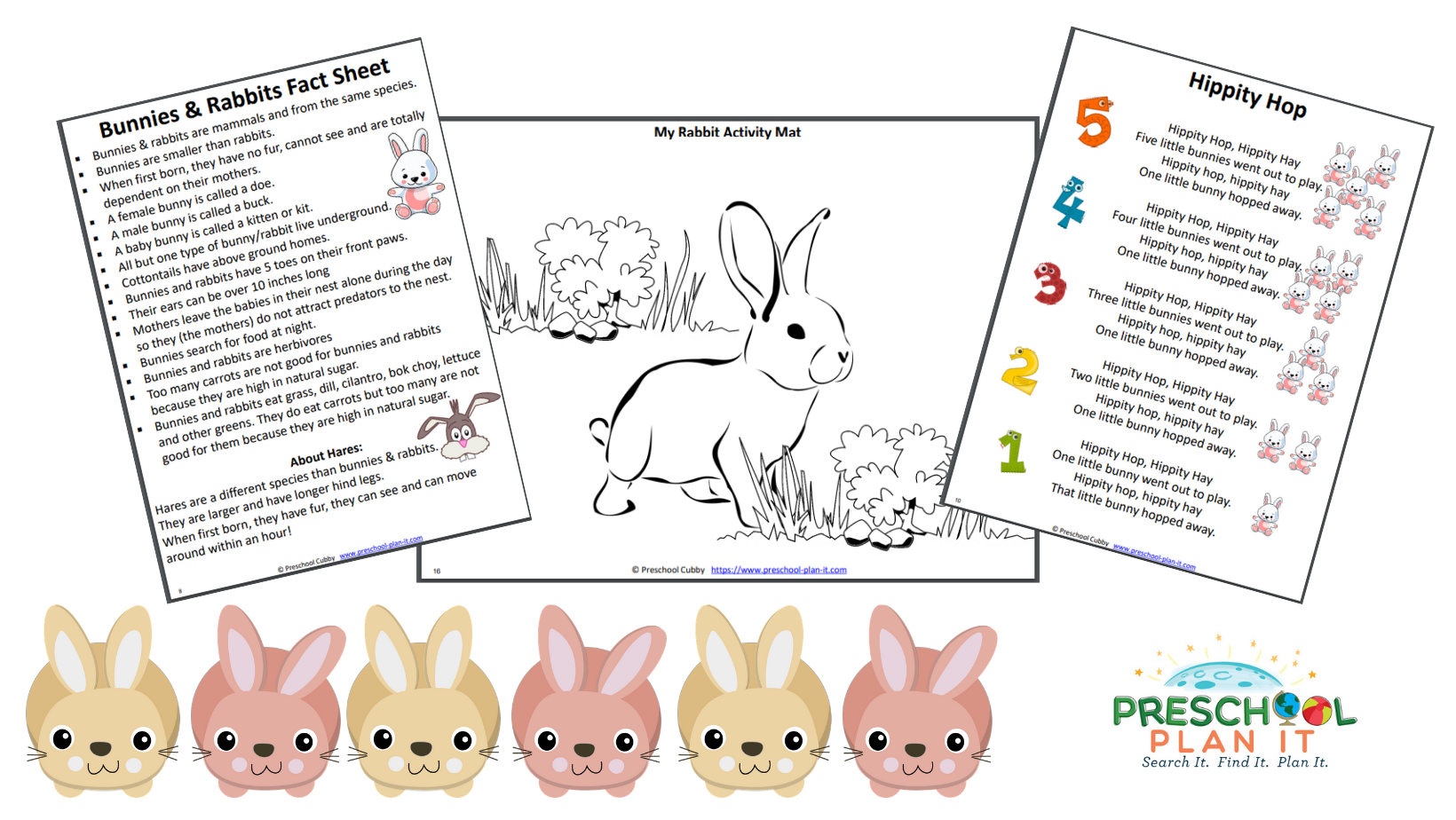A 33 page Bunnies and Rabbits Preschool Theme resource packet to help save you planning time!