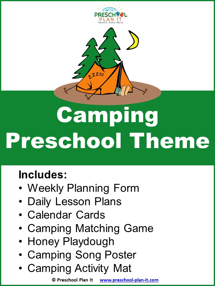 A 25 page Camping Preschool Theme resource packet to help save you planning time!
