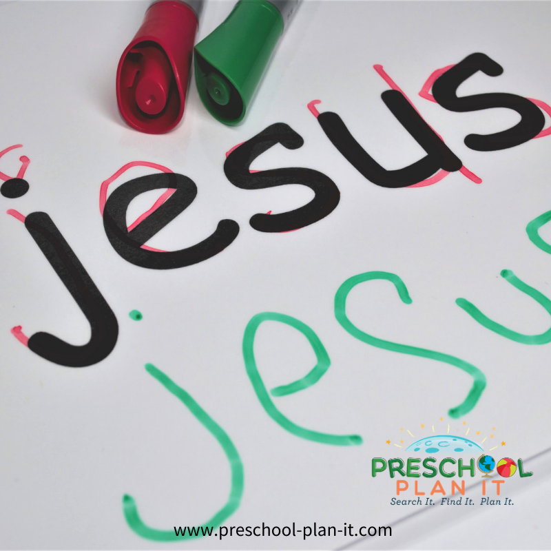 Christian Christmas Theme for Preschool Writing Activity