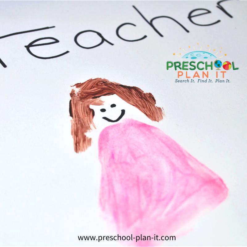 Community Helper Teachers Painting Activity