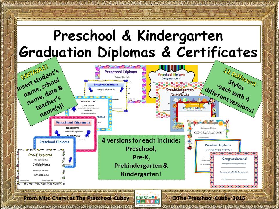 Preschool graduation for Ohio department of education lesson plan template