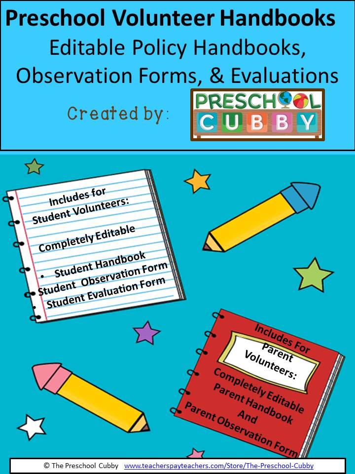 Preschool Classroom Volunteer Resource