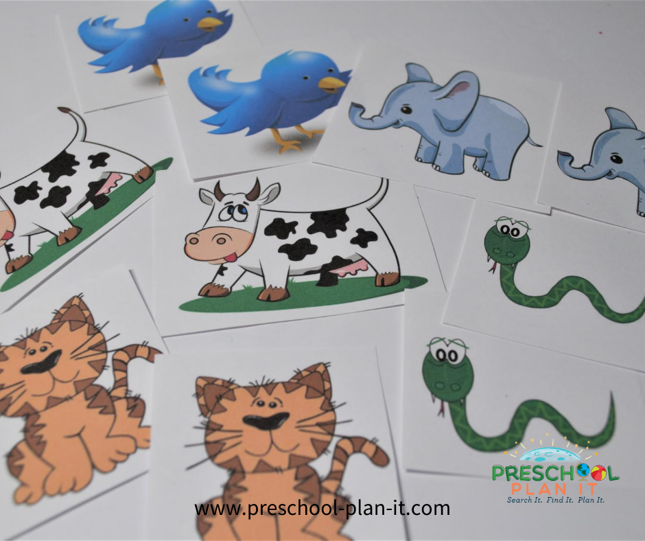 Creation Day 6 Preschool Theme Sorting Activity