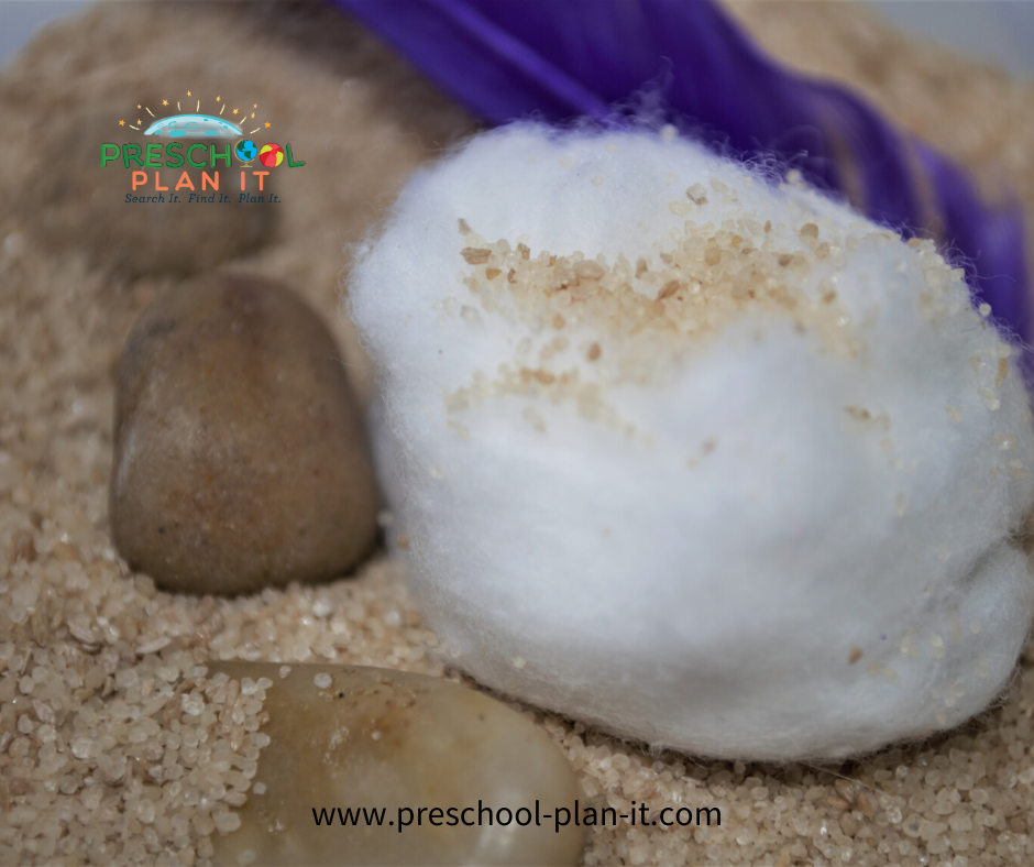 Creation Theme for Preschool Sand Table Activity