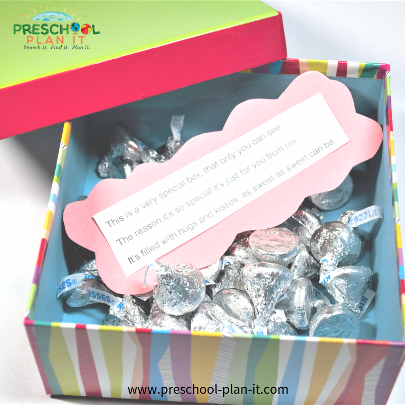 Hugs and Kisses gift Father's Day Activities for Preschoolers