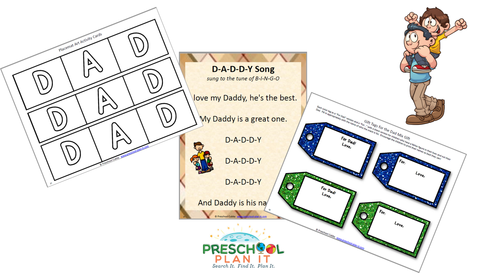 A 42 page Father's Day Preschool Theme resource packet to help save you planning time!