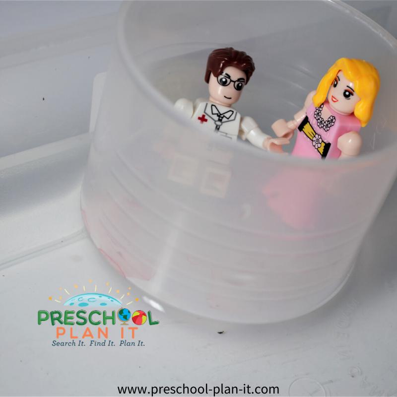 Preschool Friendship Theme Water Table Activity