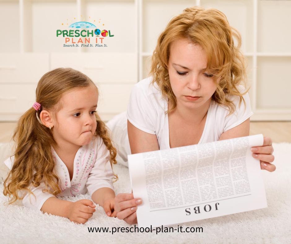 Handling Unemployment and a Preschooler