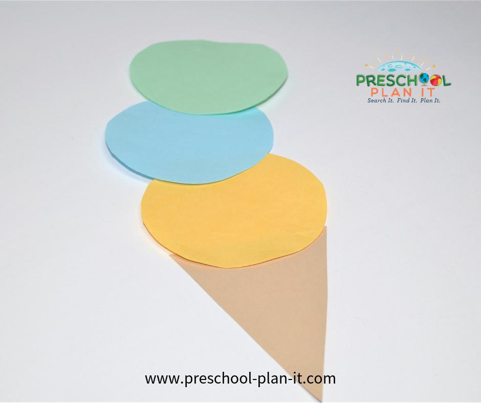 Ice Cream Preschool Theme Art Activity