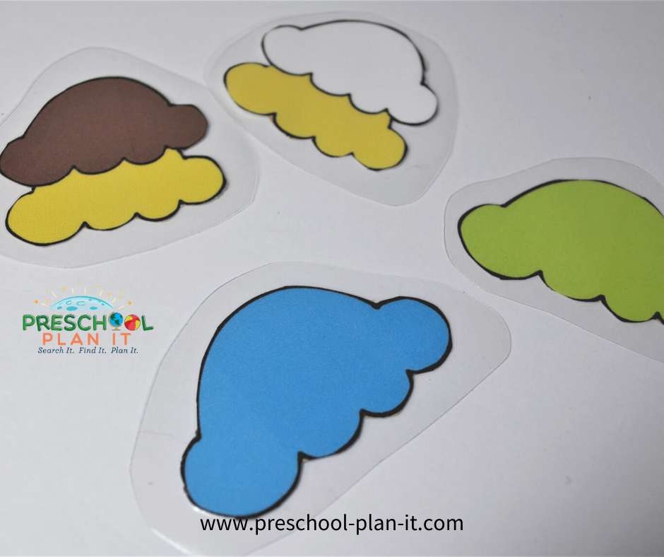 Preschool Ice Theme Sorting Activity