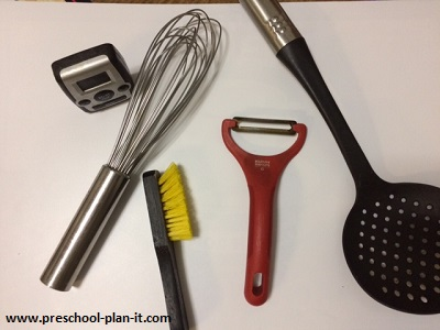 Kitchen Tool Identification for a Preschool Nutrition Theme