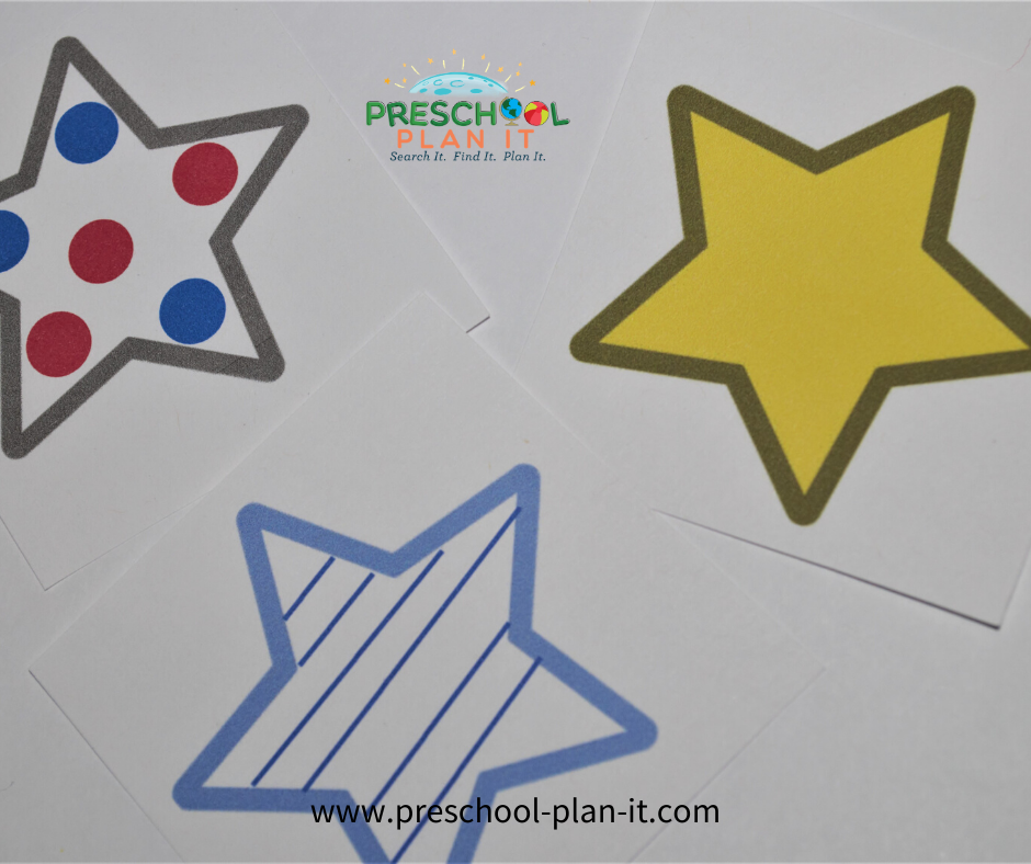 Preschool Memorial Day Activities Matching Game