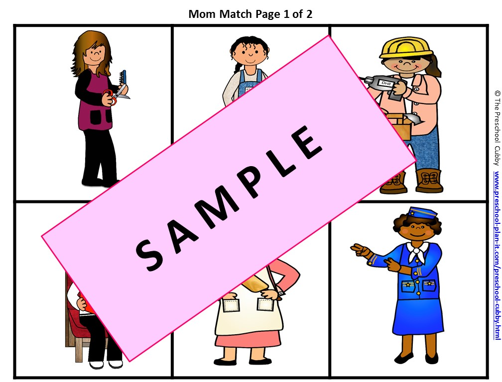 Mother's Day Preschool Theme Game