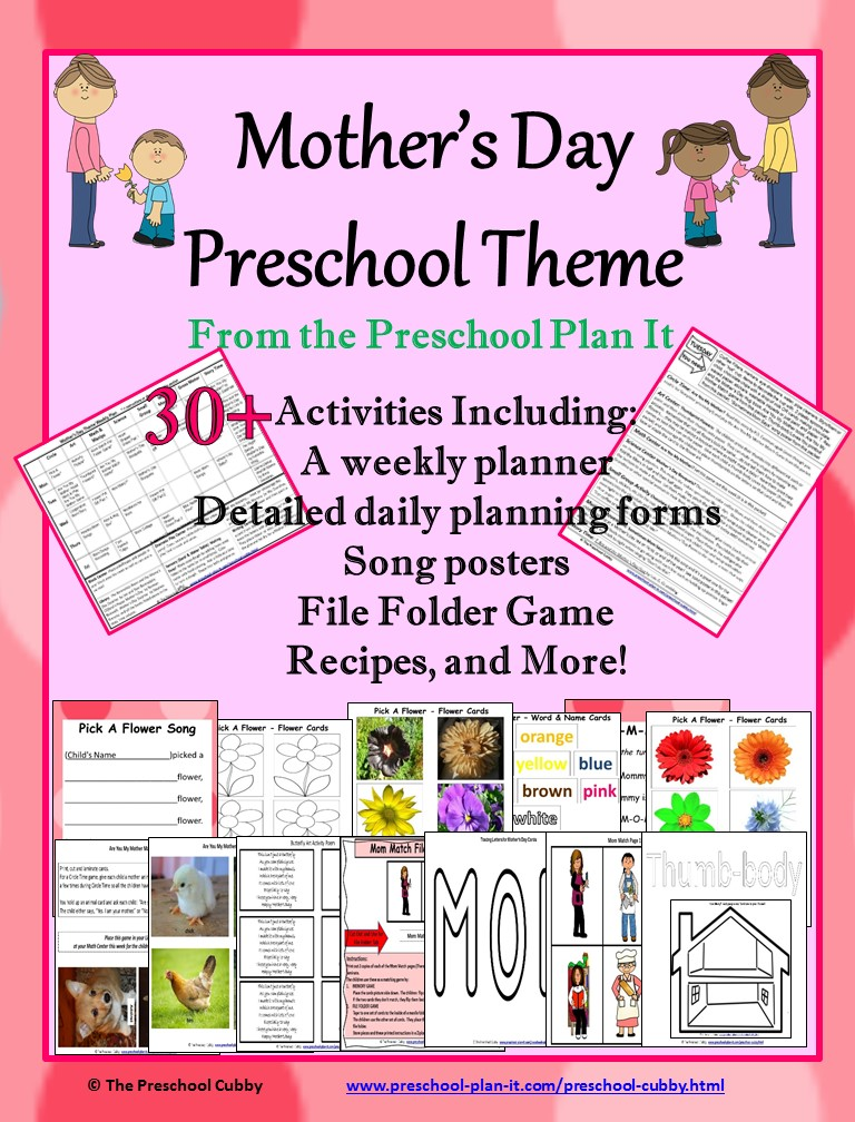mothers day activities theme for preschool. Black Bedroom Furniture Sets. Home Design Ideas