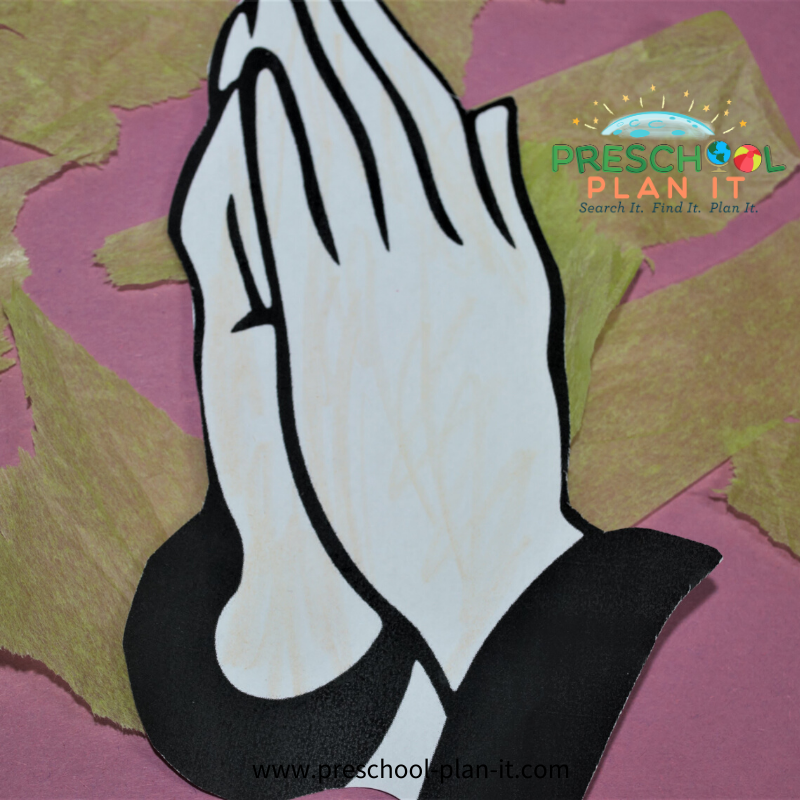 National Day of Prayer Preschool Theme Art Activity