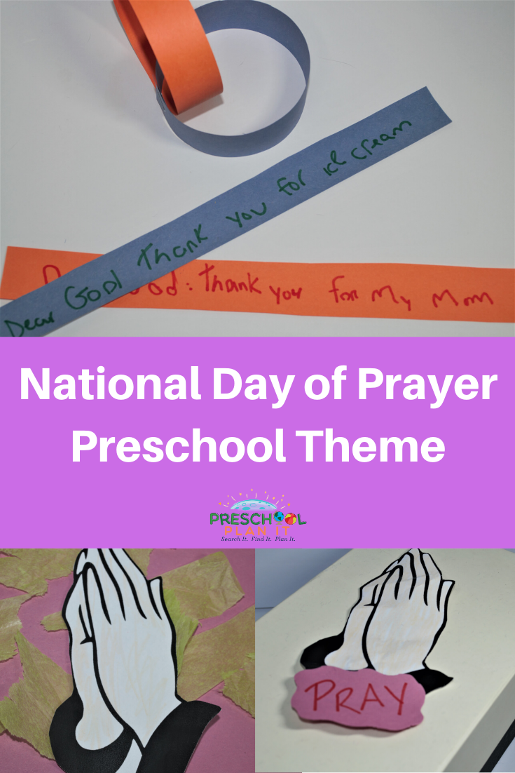 National Day of Prayer Preschool Theme