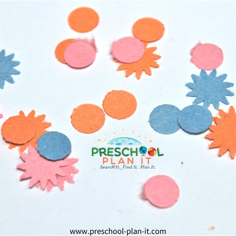 New Years Preschool Theme Fun with Confetti