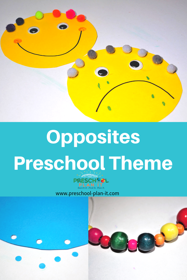 Opposites Theme for Preschool