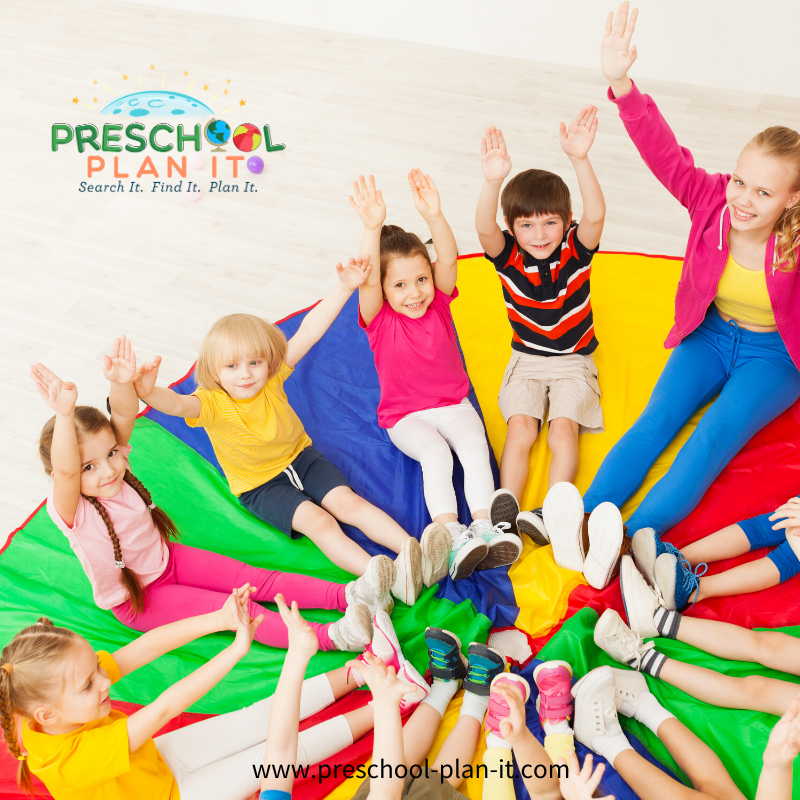 Parachute Play in Preschool