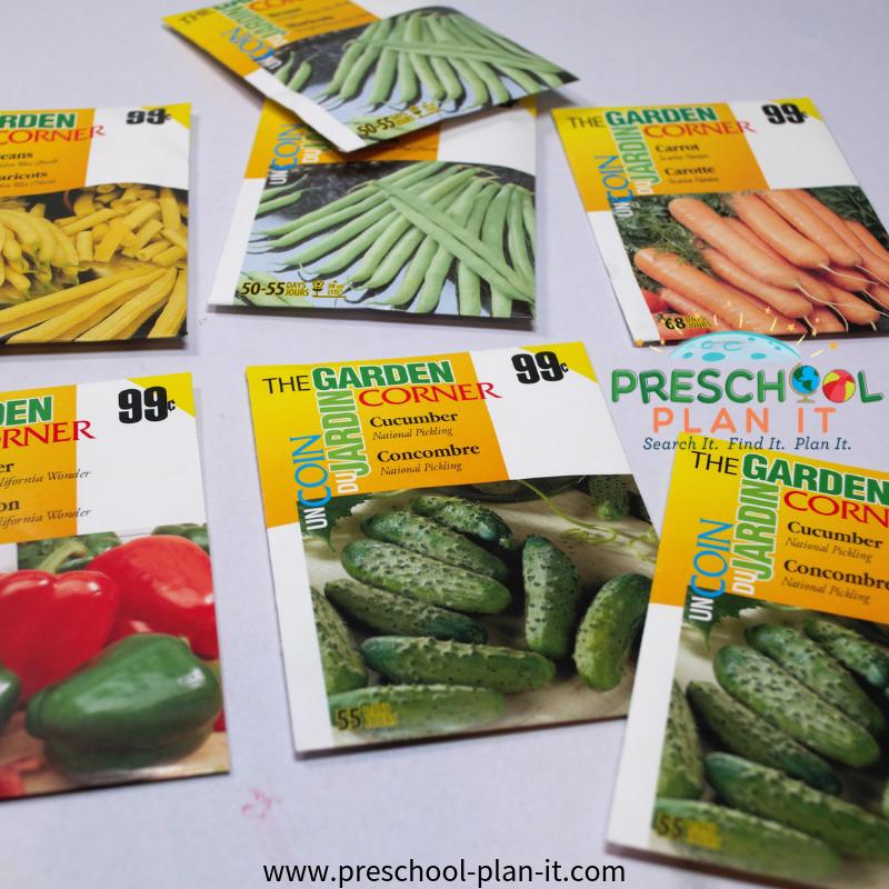 Seed Package Sorting Preschool Math Game