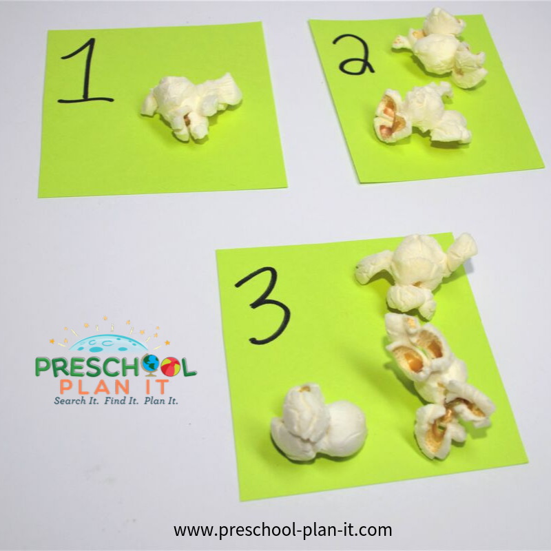 Popcorn Preschool Theme Number Recognition