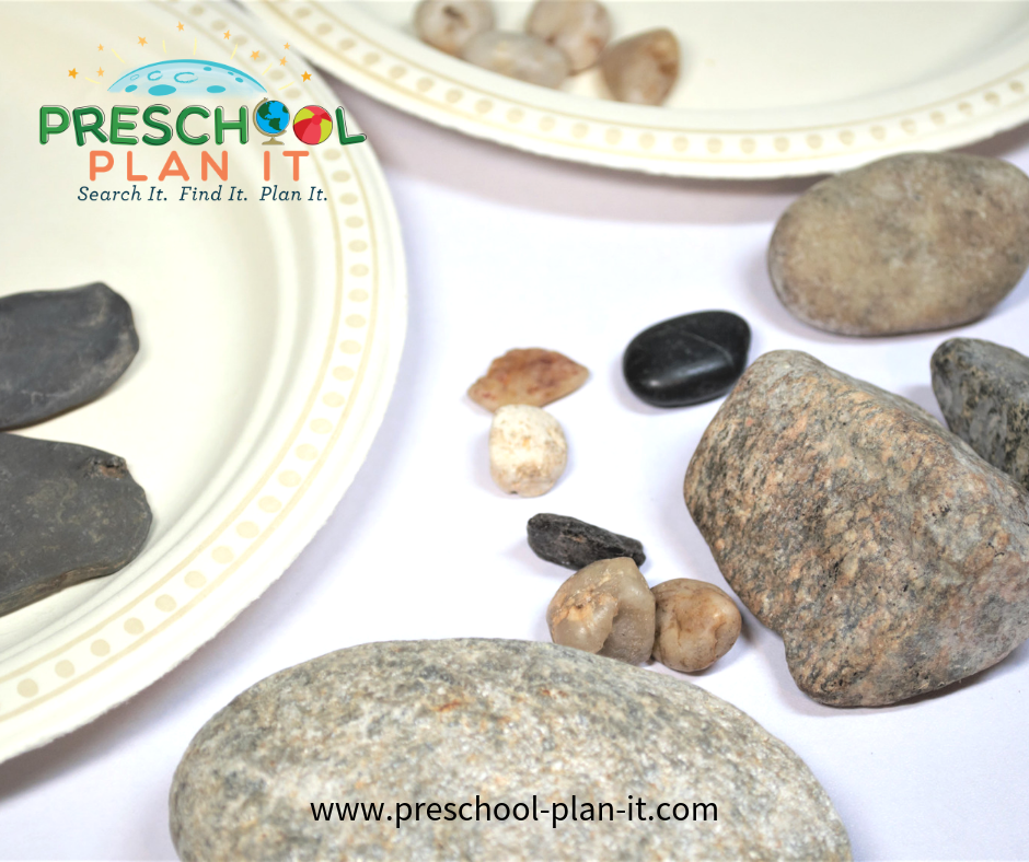 Campfire Rock Sorting for Preschool Camping Activities