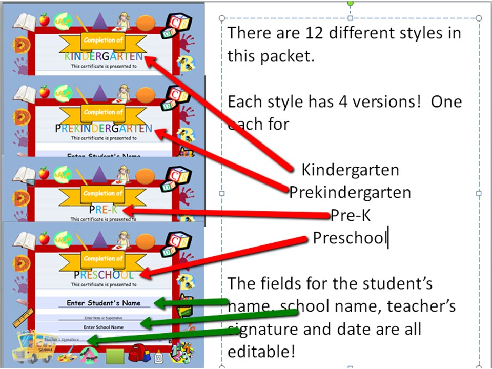 preschool graduation diplomas resource