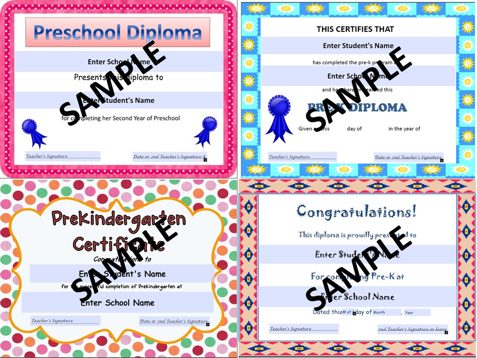 Classroom Board Ideas For Preschool ~ Preschool graduation diplomas resource