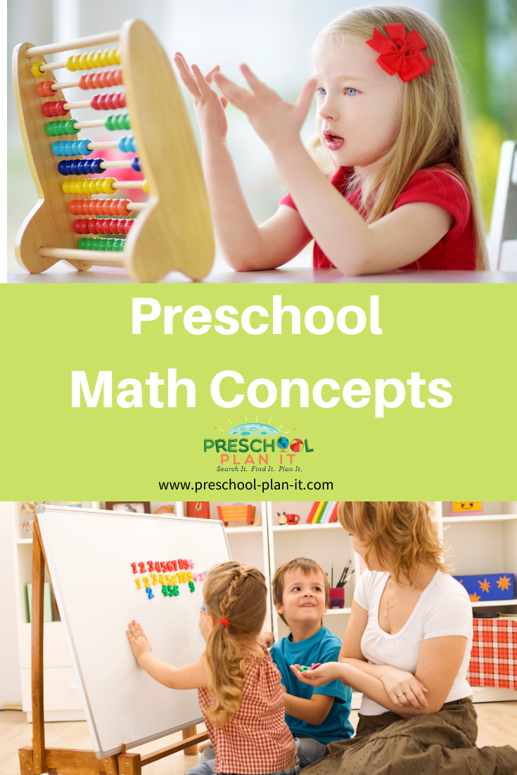 Preschool Math Concepts and learning objectives