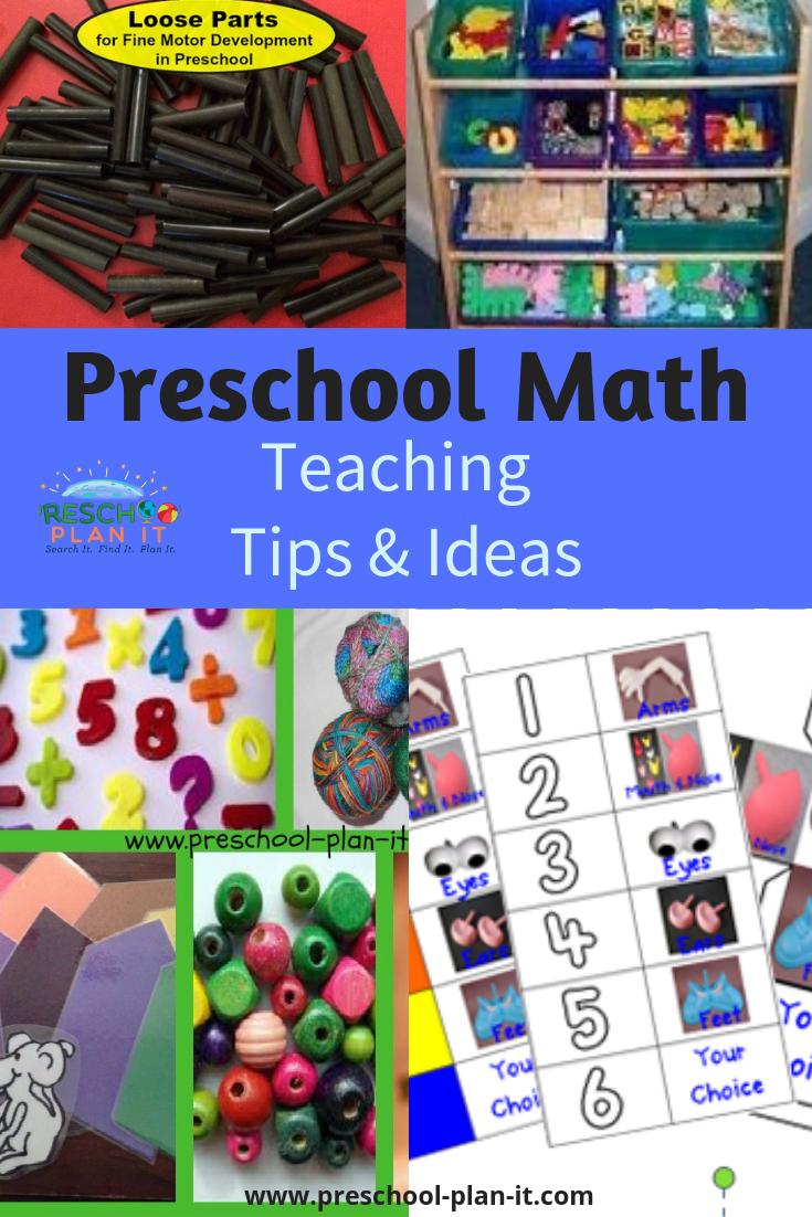 Preschool Math teaching tips and ideas