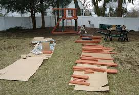 Preschool outdoor activity obstacle course