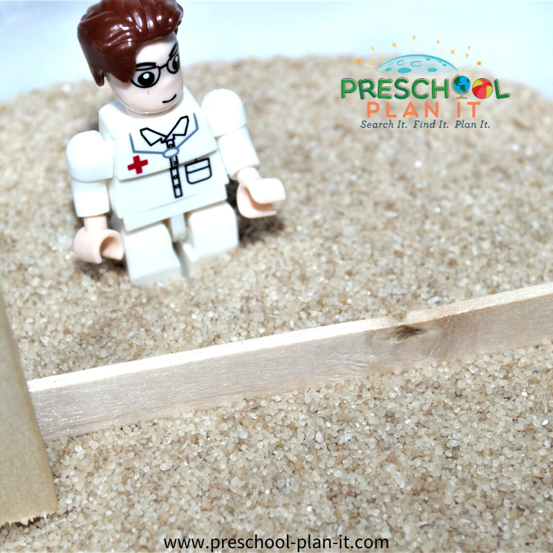 Olympic Theme for Preschool Sand Table Activity