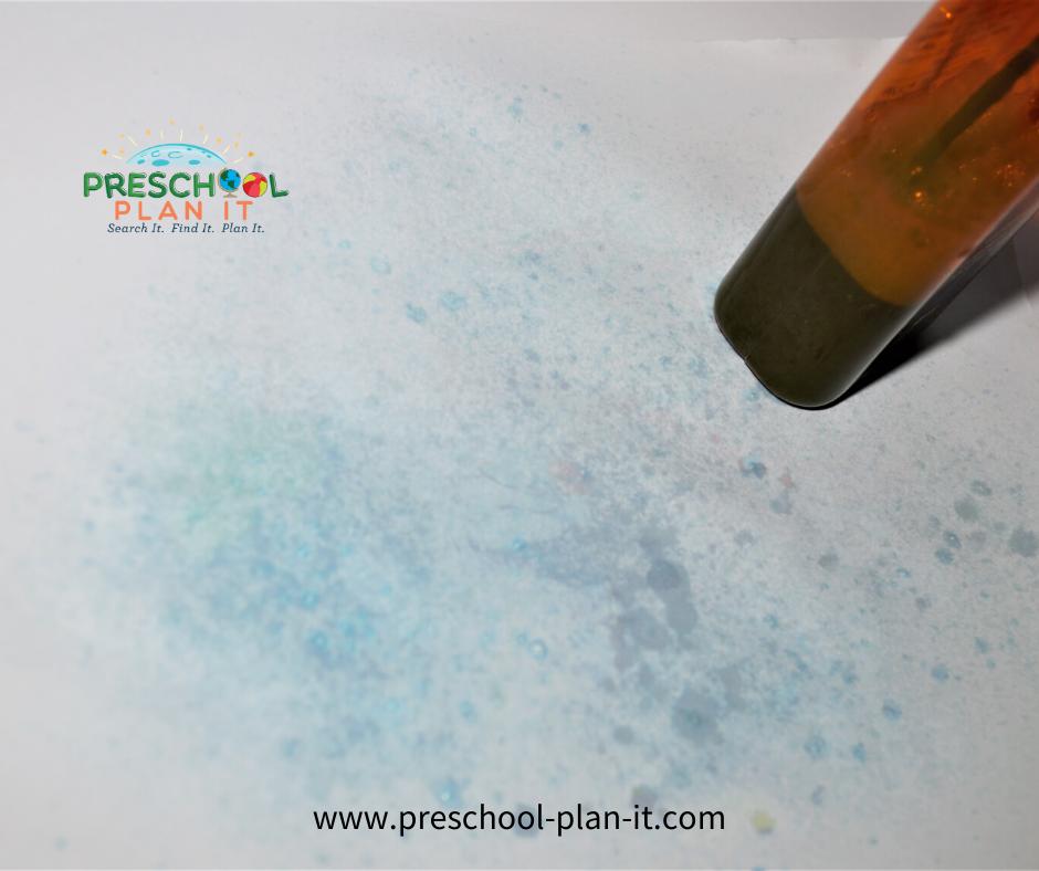 Preschool Rain Theme Painting Activity