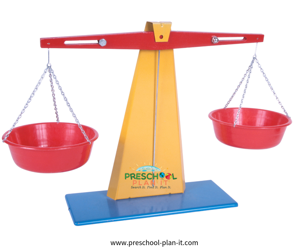 Preschool Science balance scale activity