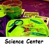 A Science Interest Learning Center in a preschool classroom is an active area!