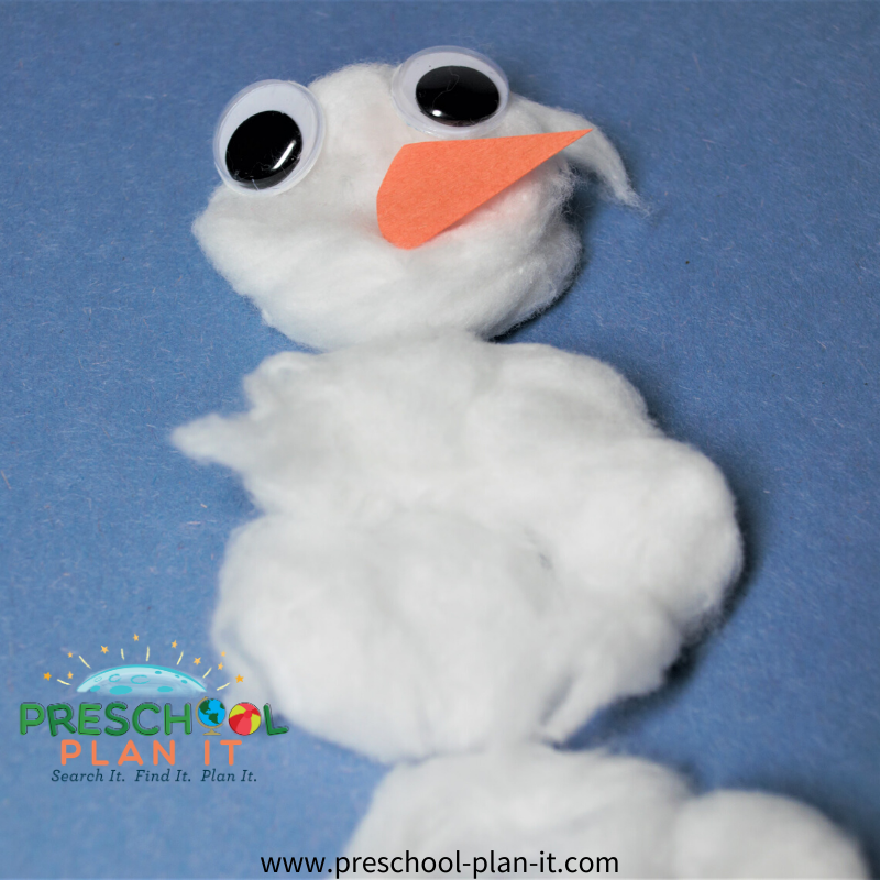 Preschool Snow Theme Art Activity