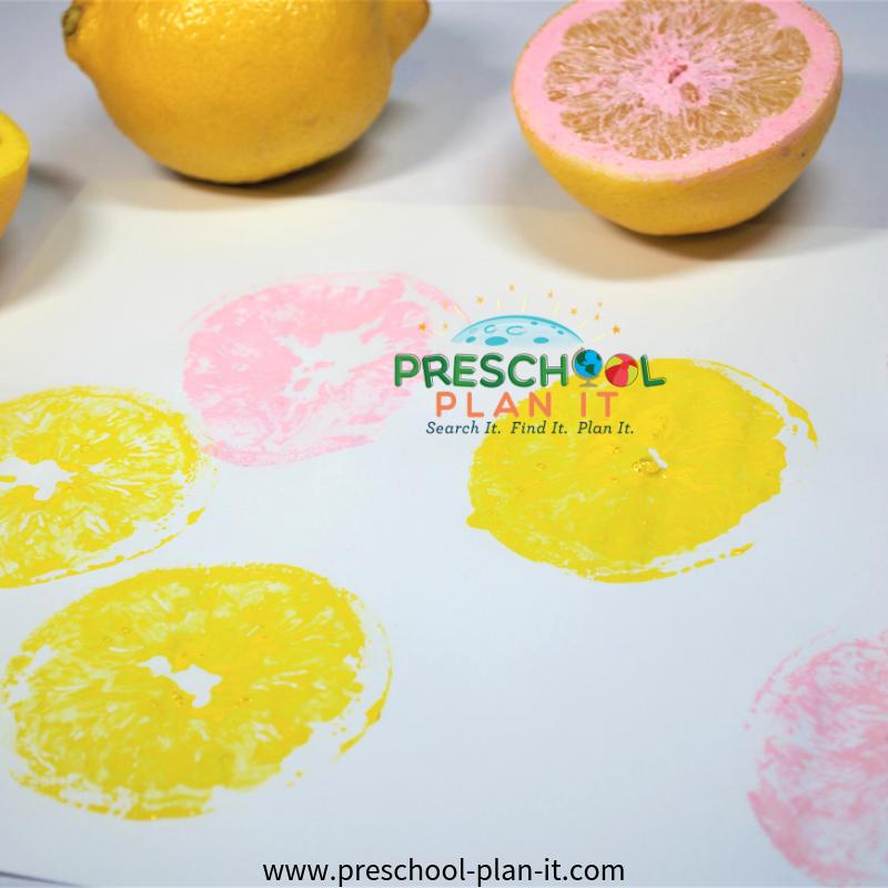 Lemonade Art for Preschool Summer Theme