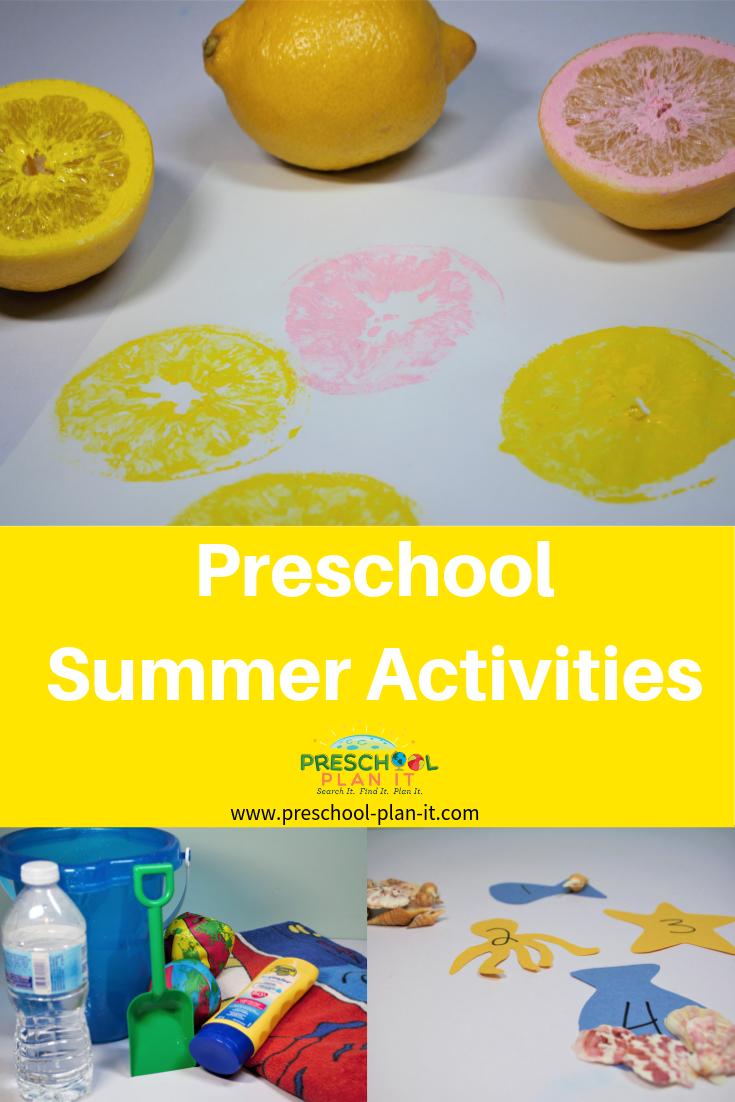 Preschool Summer Activities Theme
