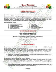 preschool teacher resume sample - Preschool Teacher Resume