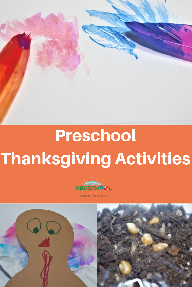 Preschool Thanksgiving Theme Activities